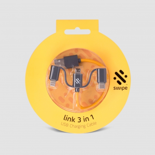 Link - 3-in-1 Cable 20cm Yellow