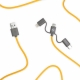 Link - 3-in-1 Cable 20cm Yellow thumbnail image 1