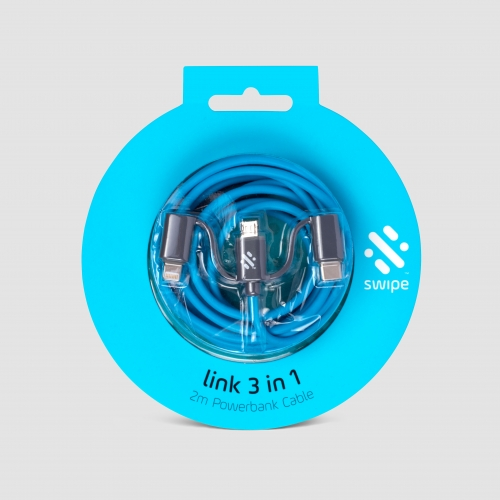 Link - 3-in-1 Cable 2m - Blue