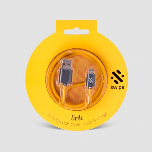 Link - Micro Charge and Sync Cable 1m - Yellow