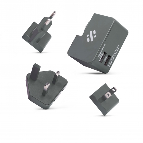 Tour - Travel Plug - Grey