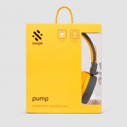 Pump - Bluetooth Headphones - Yellow Large Image