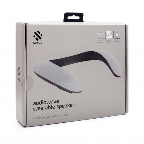 Audiowave Wearable Neck Speaker - Grey
