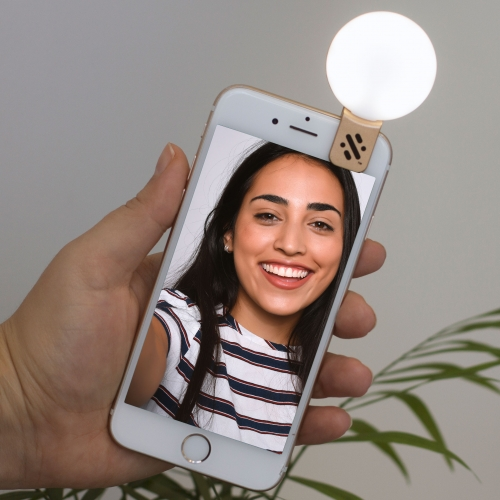 LED Mini Selfie Light - Gold