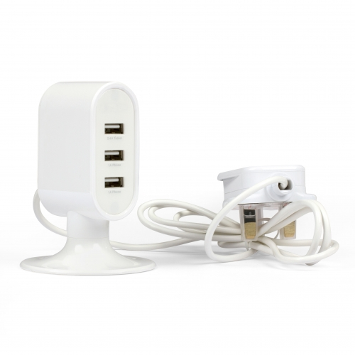 3 Port USB Charging Tower Large Image