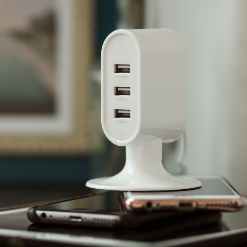 3 Port USB Charging Tower