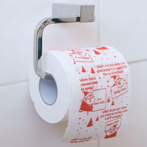 Christmas Joke Toilet Roll