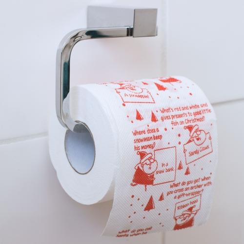 Christmas Joke Toilet Roll