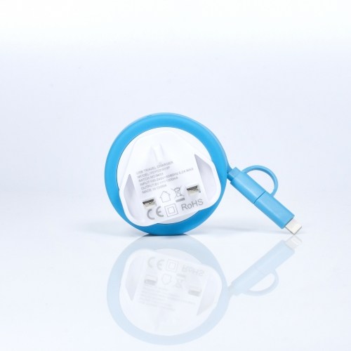 Yo-Yo Charging Cable - 3 Pin Large Image